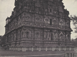 Western side of the great central tower [Brihadishvara Temple, Thanjavur]
